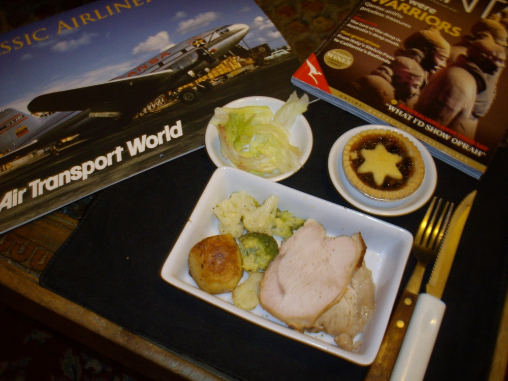 A lite Christmas dinner a la airline style