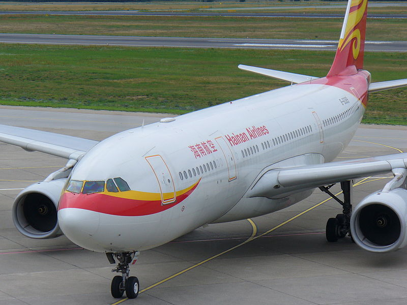 Hainan Airlines A330-200. Source: Wikimedia Commons
