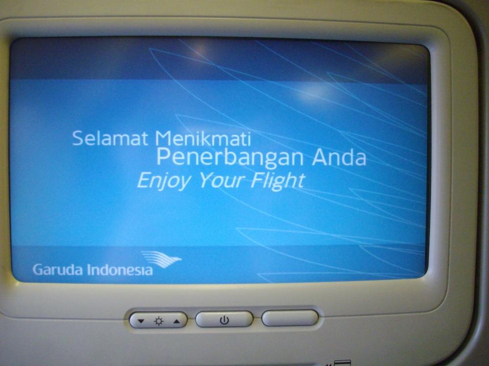 AVOD in Economy on Garuda Indonesia Boeing 737-800. Denpasar to Yogyakarta