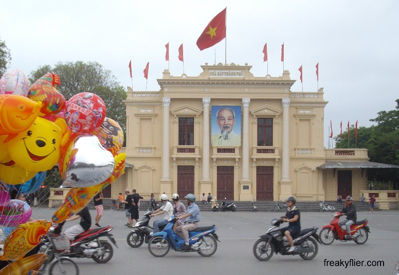 Hai Phong Opera House and Balloons