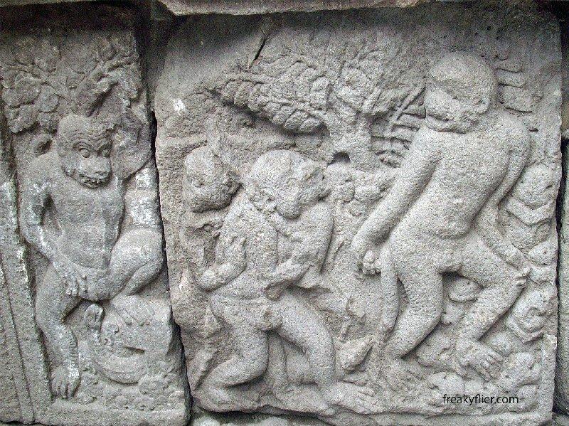 Hanuman, the monkey king helping Rama rescue Sita