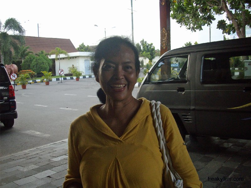 Mira, my lovely personal guide in Yogyakarta