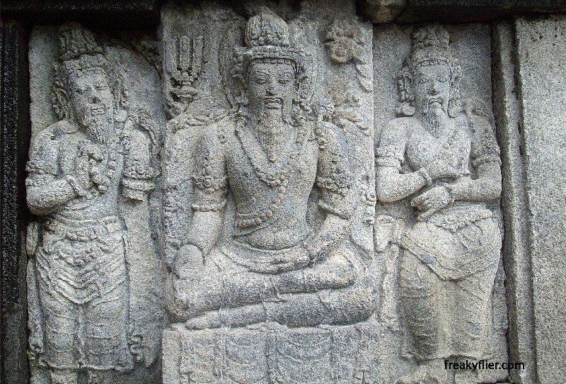 Bas-Relief of Hindu Gods at Prambanan