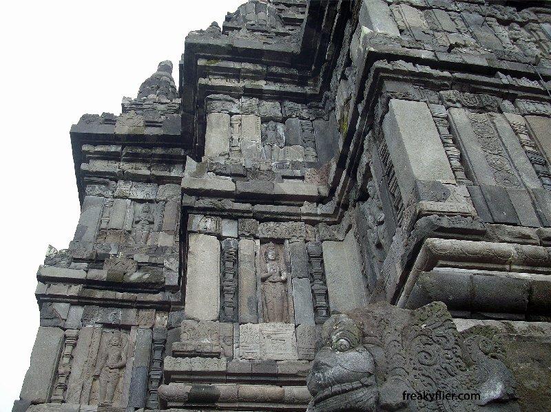 Hindu goddess relief on Shiva Temple, Prambanan