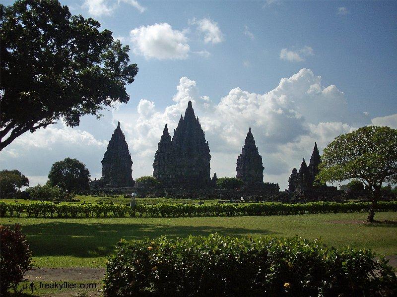 Walking towards Prambanan