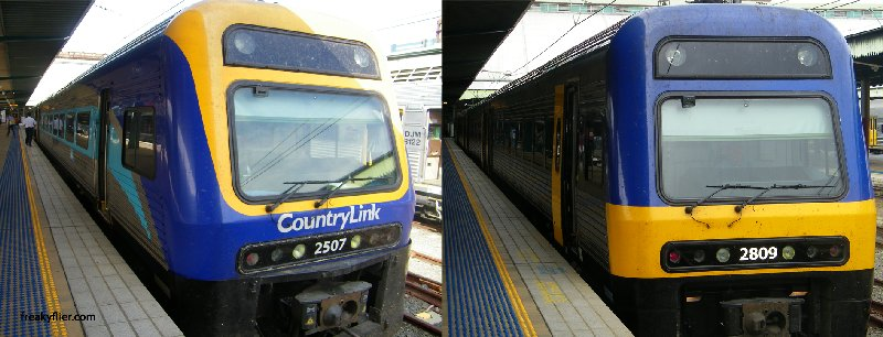 Countrylink and Cityrail Trains