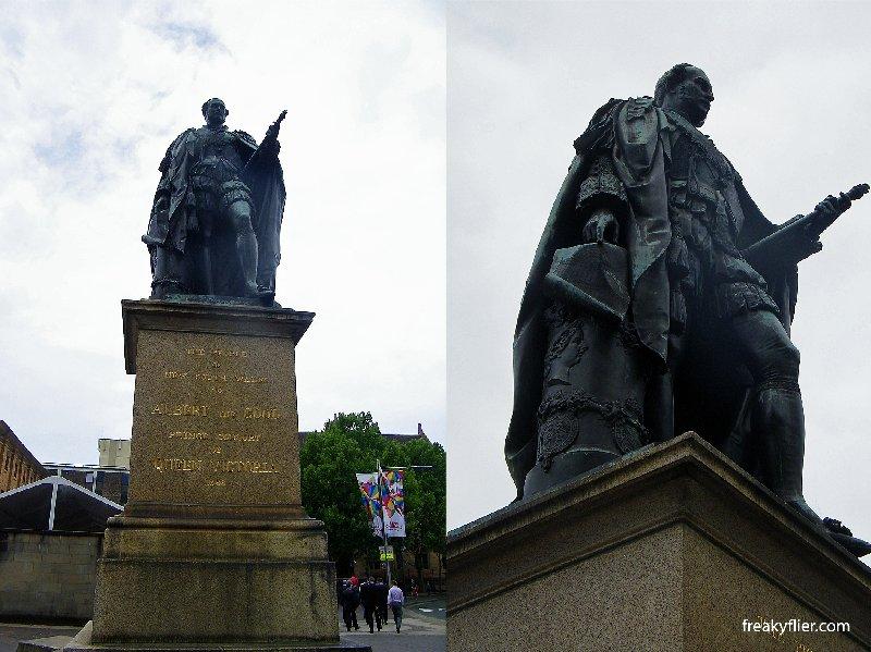 Prince Albert statue facing Queen Victoria statue, Queens Park