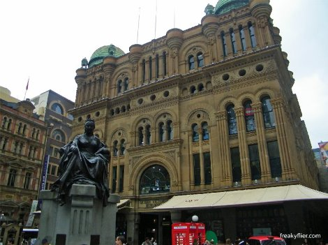 Queen Victoria Building, southern entrance facing the Town Hall, Sydney