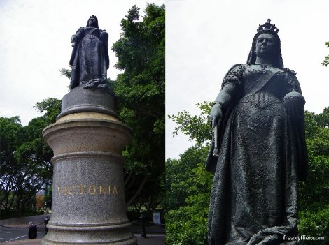 Queen Victoria statue, facing the Law Courts, Queens Square