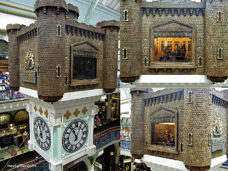 The Royal Clock inside the QVB