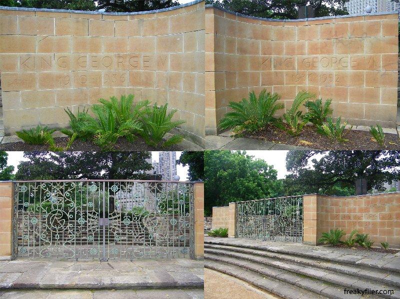 Sandringham Gardens, commemorative gates