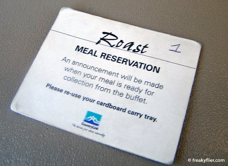 Meal reservation card