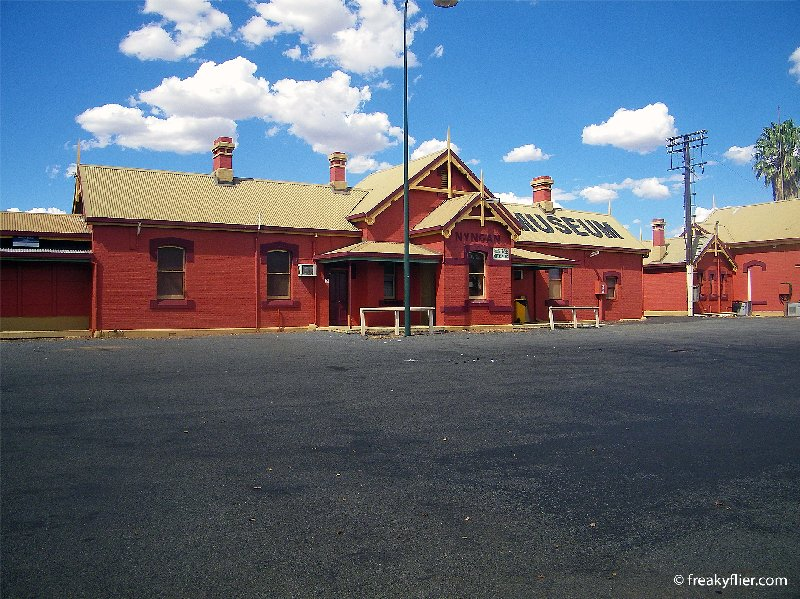 Nyngan railway station, now a museum