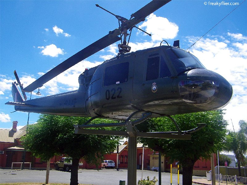 Iroqouis Helicopter donated to the people of Nyngan to commemorate the 1990 floods