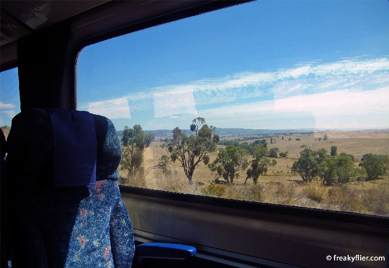 The view of country NSW from train