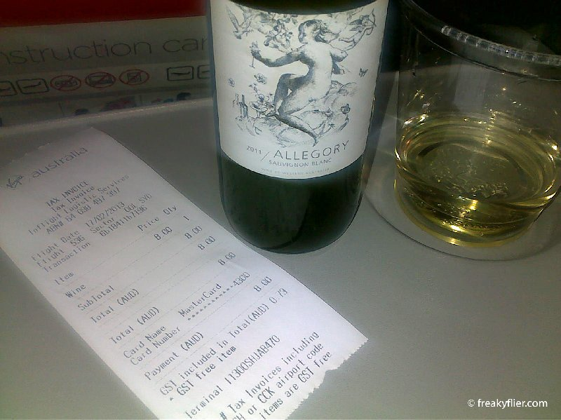 A nice wine to relax during the flight AUD$8