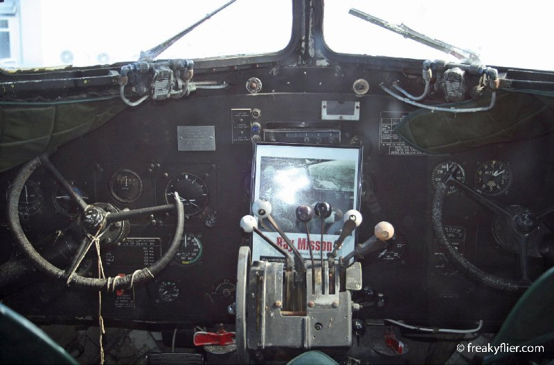 The cockpit of the DC3