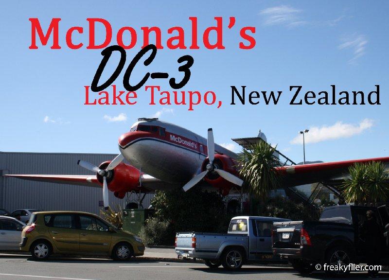 McDonald's DC-3, Lake Taupo, New Zealand