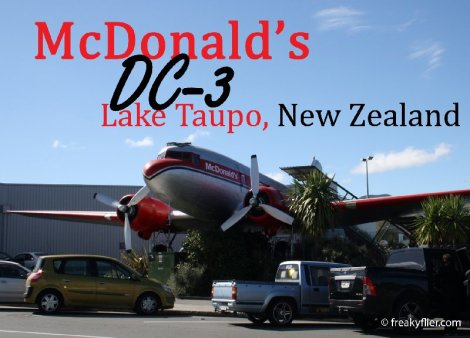 McDonald's DC-3, Lake Taupo, New Zealand