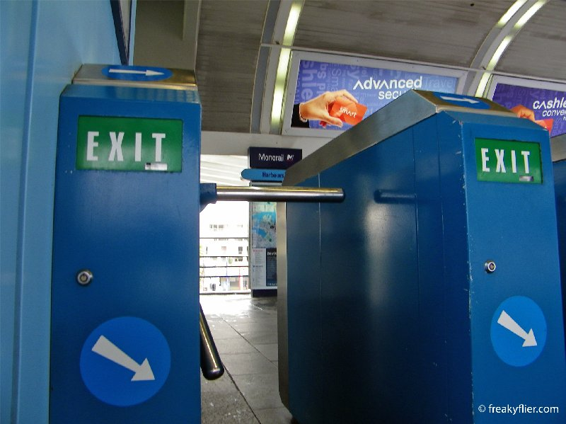 Monorail exit - Exit gates at a monorail station