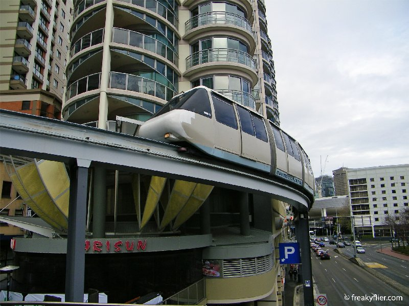 The residents of this inner city apartment block will probably be happy to see the Monorail torn down