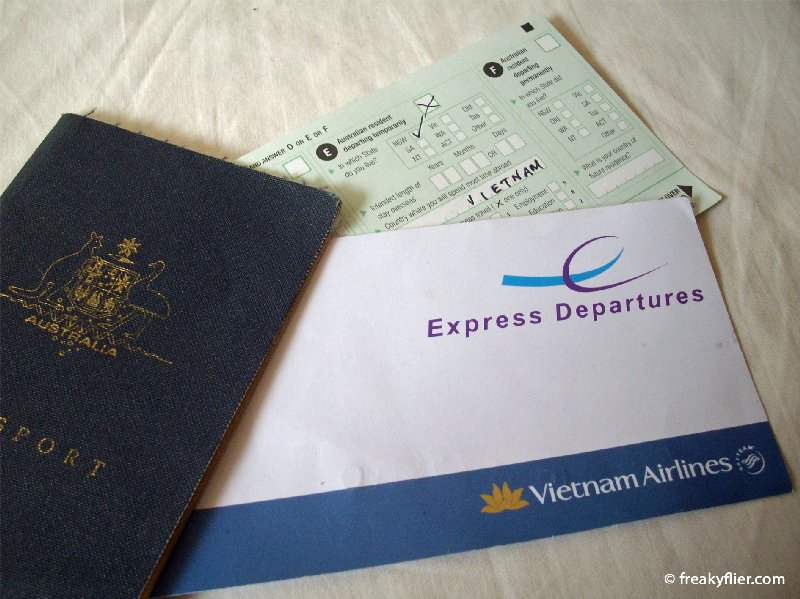 The express departure card helps bypass long morning immigration lines at Sydney Airport