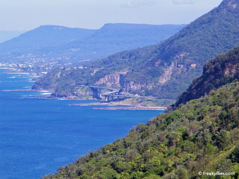 Sea Cliff Bridge and Wollongong from Bald Hill