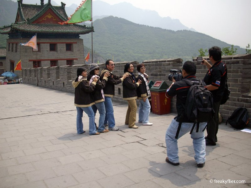 Filming on the at Juyongguan Pass