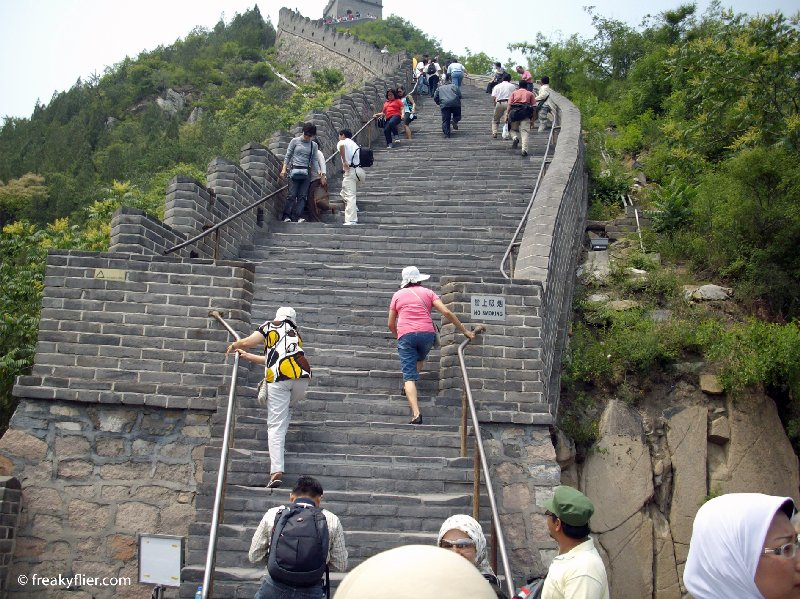 The steps are high and the climb quite steep