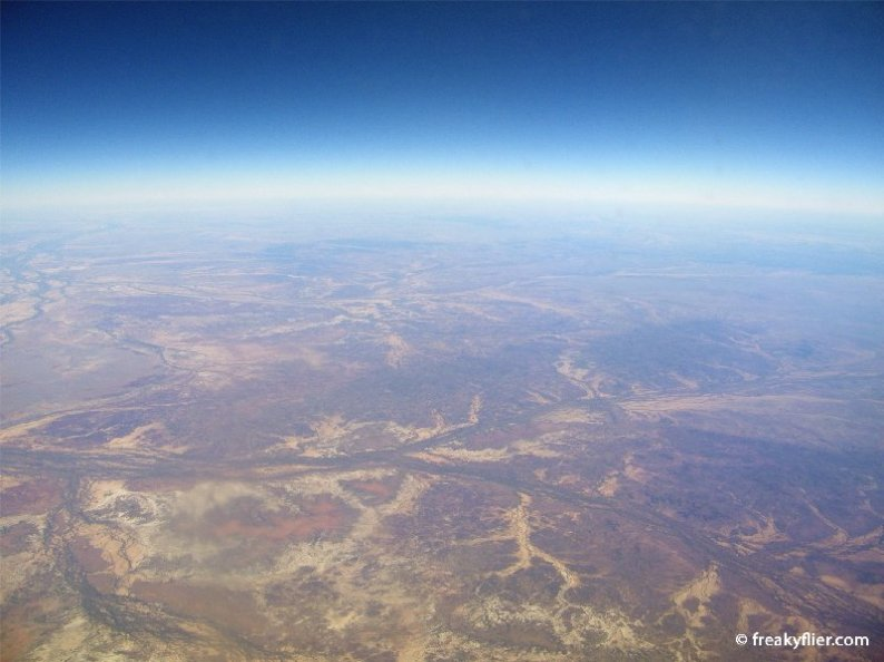 Flying over northern central Australia