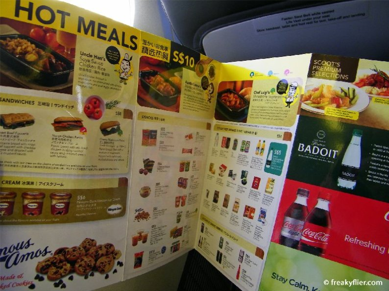 EAT - the inflight menu featuring meals, snacks and drinks available for purchase
