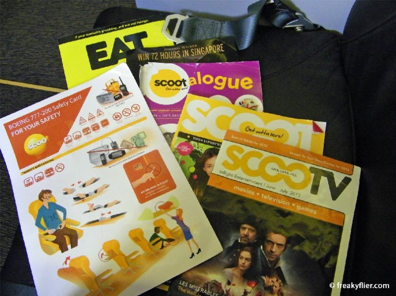 Seat pocket reading materials and catalogs