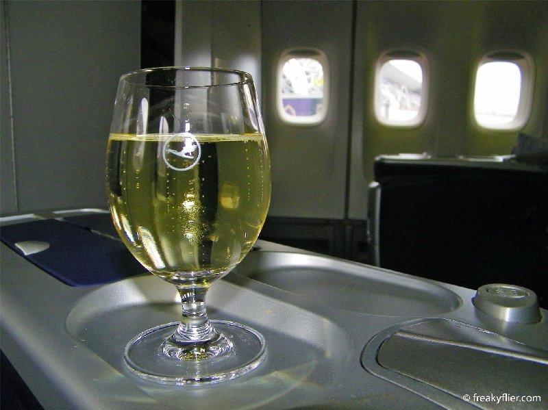 Pre-departure Champange