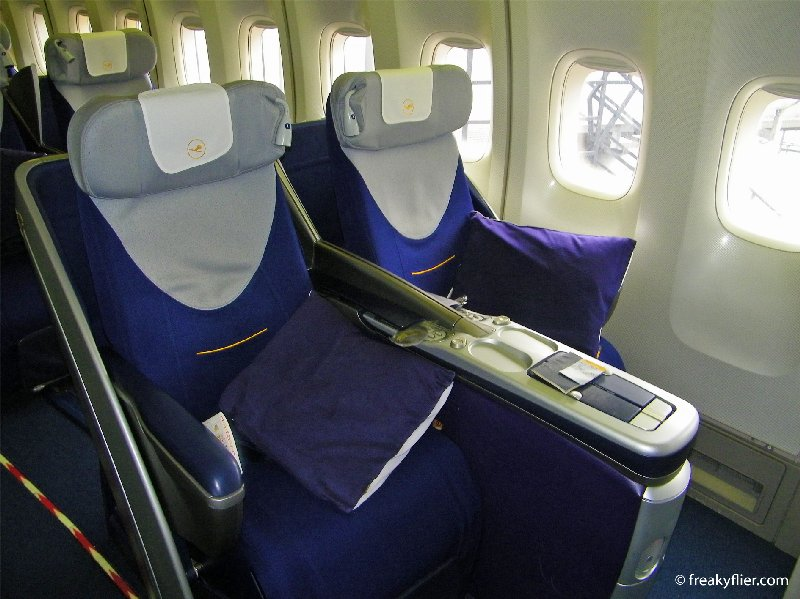Seats 1A and 1B in the forward Business Class Cabin