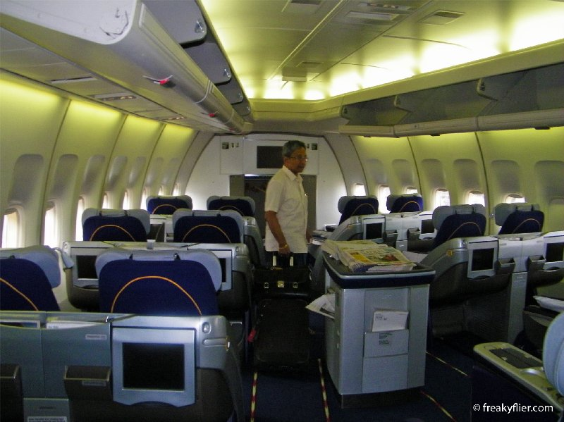 The Business Class forward cabin