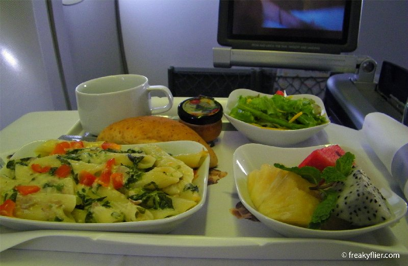 The Business Class hot meal