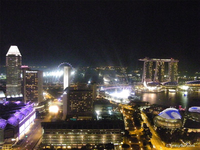 The view at night, Singapore from the 47th floor