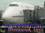 Review: Lufthansa German Airlines - Bangkok to Kuala Lumpur Business Class