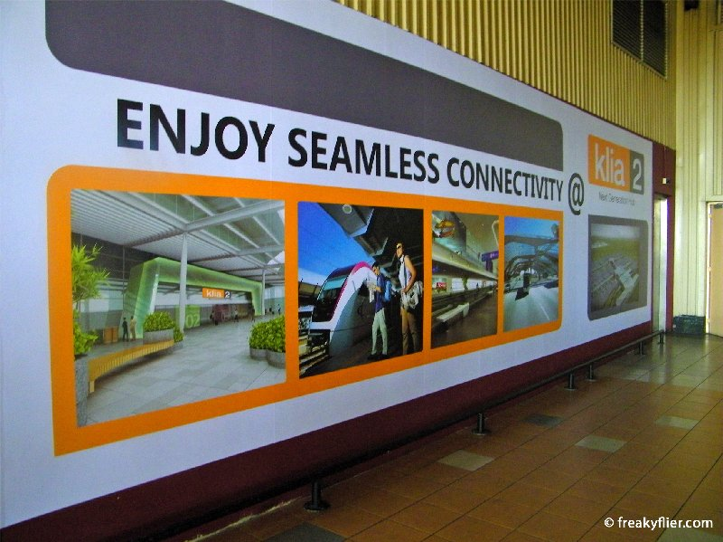 Advertisement for the new KLIA2 that will replace the LCCT