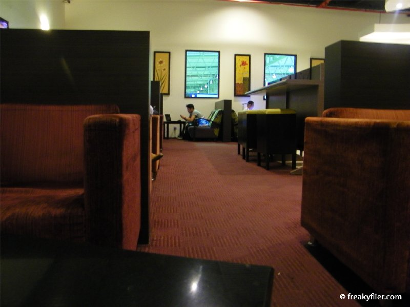 Plaza Premium Lounge with seating for around 80