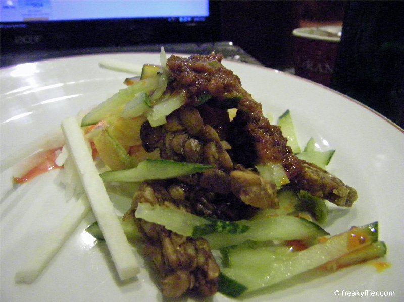 A Malaysian dish at the Plaza Premium Lounge