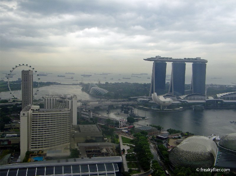 The view in the day, Singapore from the 47th floor main balcony