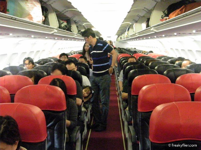 Air Asia Airbus a320 aircraft interior