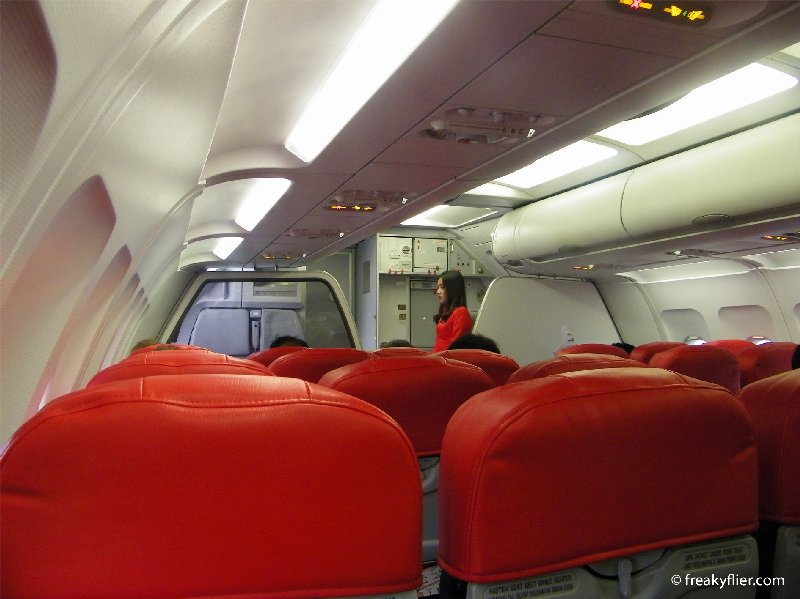 Row 6 from right behind the 'Hot Seats' on Air Asia Airbus a320