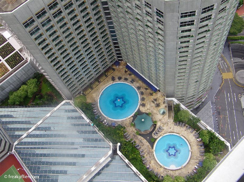 The pool from the 47th floor