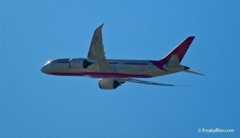 Air India Boeing 787 Dreamliner departing Sydney
