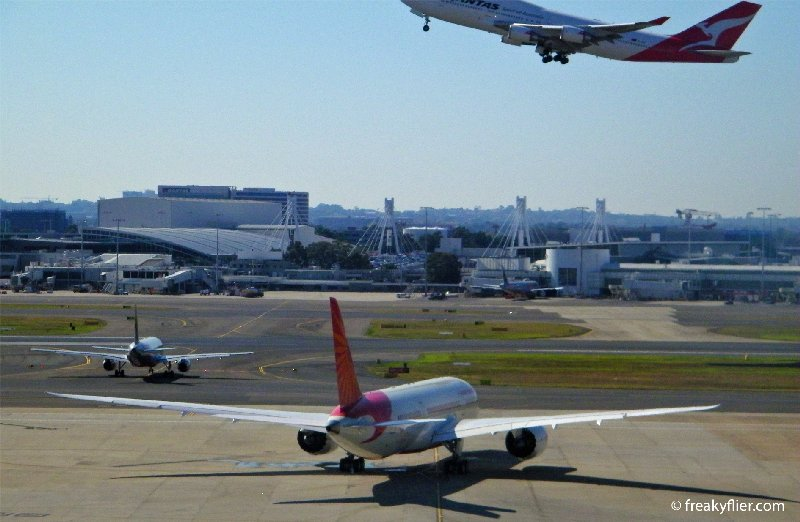 Air India operates a daily triangle service between Sydney, Melbourne and Delhi