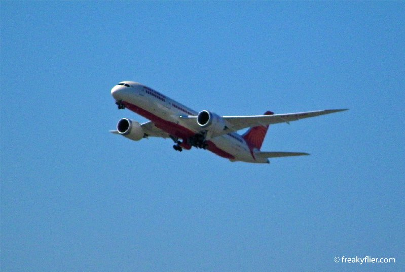 Air India Flight AI312 departs from Sydney to Melbourne before heading to Delhi, India