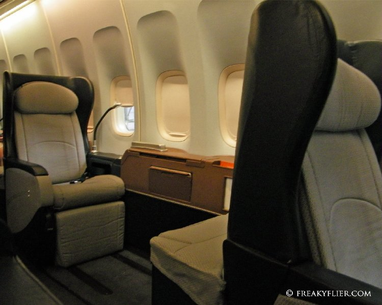 Qantas 747-400 First Class Cabin