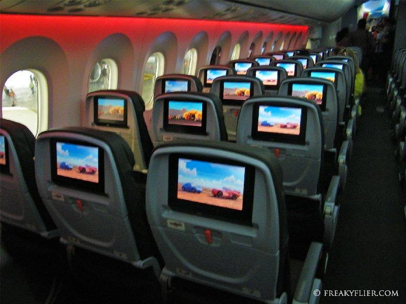 AVOD in each seat back in economy class
